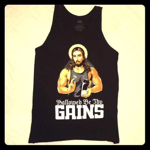 Other - Tank Top Muscle Shirt - Hallowed Be Thy Gains